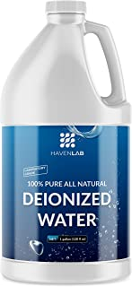 Deionized Water - Demineralized - Purification Softener in Jug - for Washing & Cleaning - Automotive Battery Cooling, Laboratory Equipment, Watering Plants, Agua Desionizada Desmineralizada, 1 Gallon