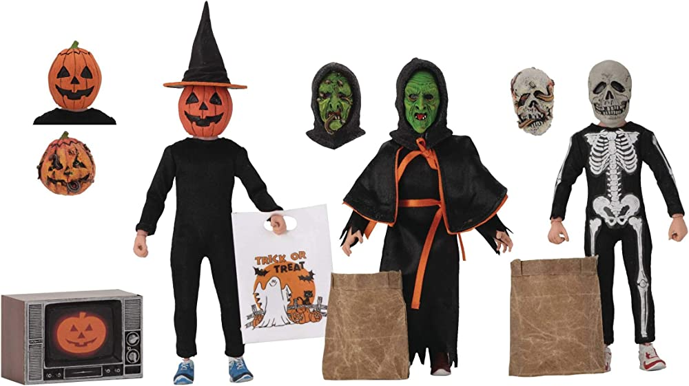 Neca halloween iii: season of the witch retro,  action figure , 3 statue-pack kids 15 cm