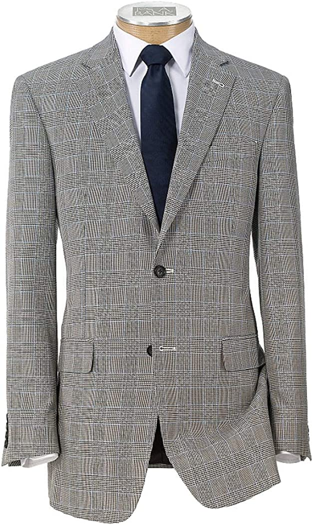 Jos. A. Bank Signature Imperial Blend Collection Tailored Fit Plaid Sportcoat
