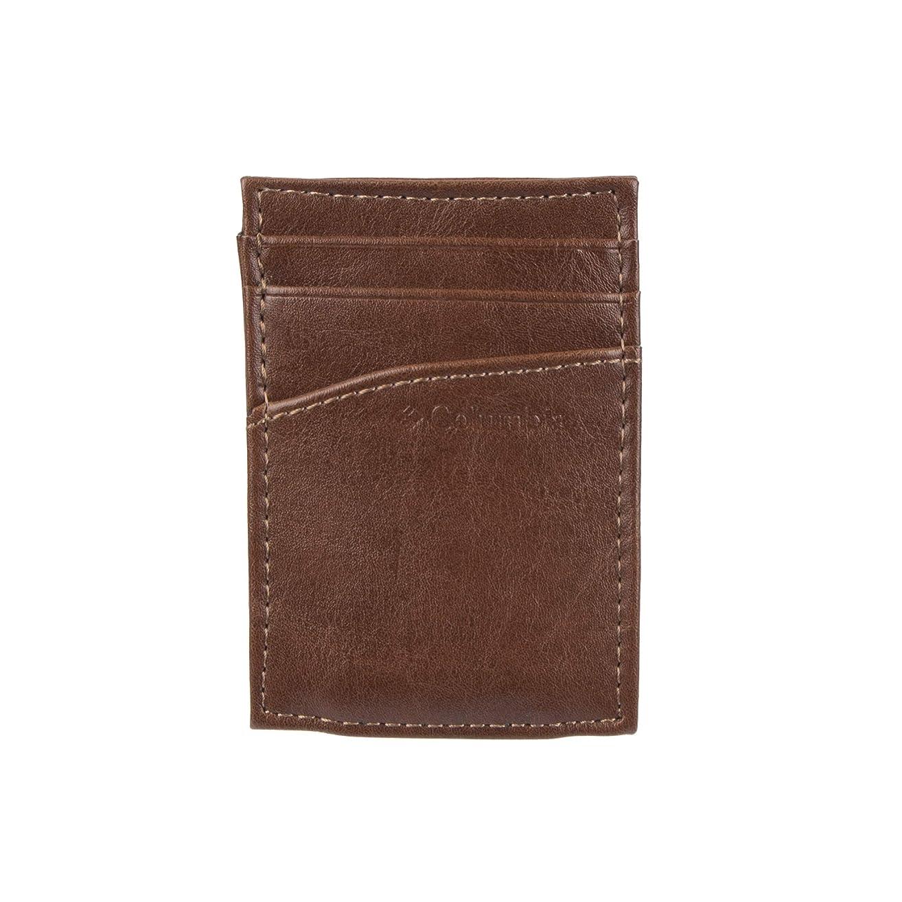プレビュースイ効果的コロンビアメンズレザー磁気お金クリップMinamalistスリムカードホルダー財布