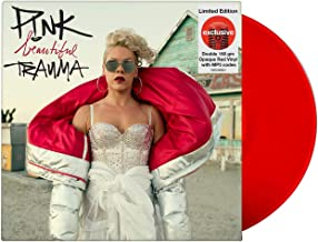 Pink - Beautiful Trauma Album Exclusive Limited Edition 2X Double 150gm Opaque Red Vinyl LP with MP3 codes
