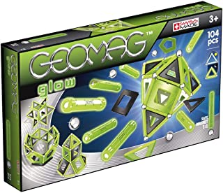 Geomag 337 Glow Magnetic Construction Set, 104-Pieces