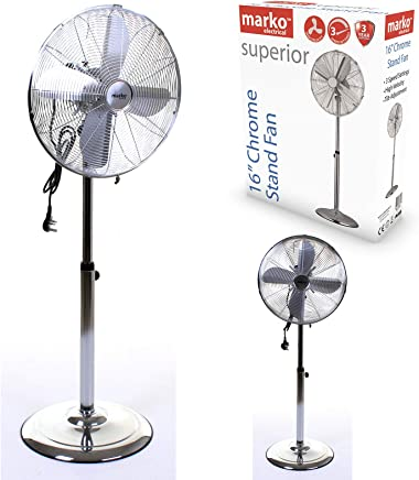 Style-tech TechStyle/® 16 Oscillating Extendable Standing Tower Pedestal Cooling Fan Remote Control
