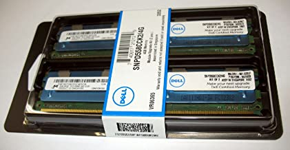 Dell 4 Gb (2 X 2 Gb) Memory Module Kit for Select Dell Systems Manufacturer Part# : Snpd558cck2/4g | Dell Part# : A6403994 Compatible with Poweredge 1900 Poweredge 1950 Poweredge 1955 Poweredge 2900 Poweredge 2950 Poweredge M600 Poweredge R900 Poweredge Sc1430 Precision Workstation 490 Precision Workstation 690 (1 Kw Power Supply) Precision Workstation 690 (750 Mw Power Supply) Precision Workstation R5400 Precision Workstation T5400 Precision Workstation T7400