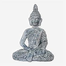 Decoration Zen Buddha Statue Meditation Statue Lucky Buddha Statue Religious Supplies Home Decor 35×17×47cm Craft Ornament...