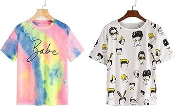 JUNEBERRY Cotton Half Sleeve Regular T-Shirt for Women(PO2_JB_Babe-Coffee_P_Multicolor_P)