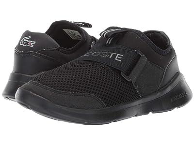 Lacoste Kids Lt Dash Slip 119 1 SUC (Little Kid) (Black/Black) Kid