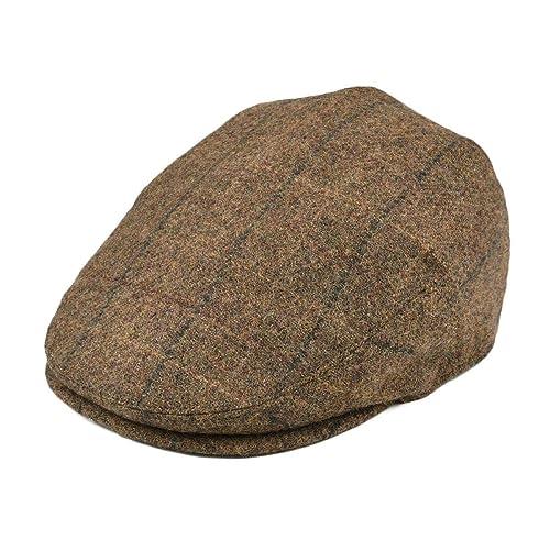 192543ef649 BOTVELA Men s 100% Wool Flat Cap Classic Irish Ivy Newsboy Hat