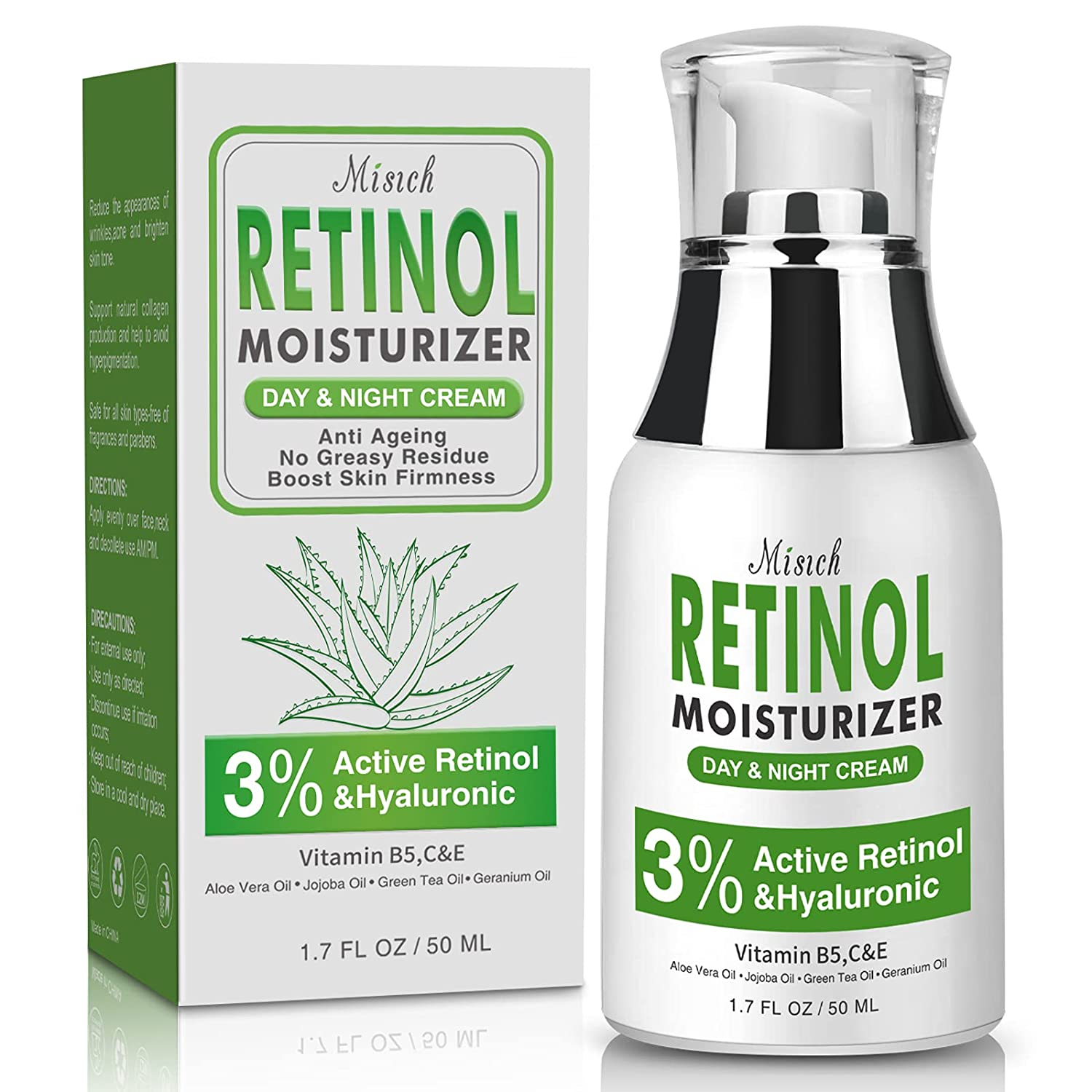 Anti 5% OFF Aging Retinol Jacksonville Mall Cream for Face Acid and N Day with Hyaluronic