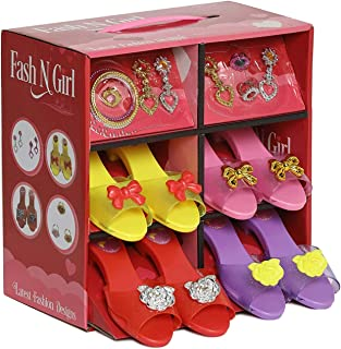 Princess Dress Up and Play Shoe and Jewelry Boutique with Fashion Accessories for Girls Dress Up, Age 3 - 10 yrs Old multi...