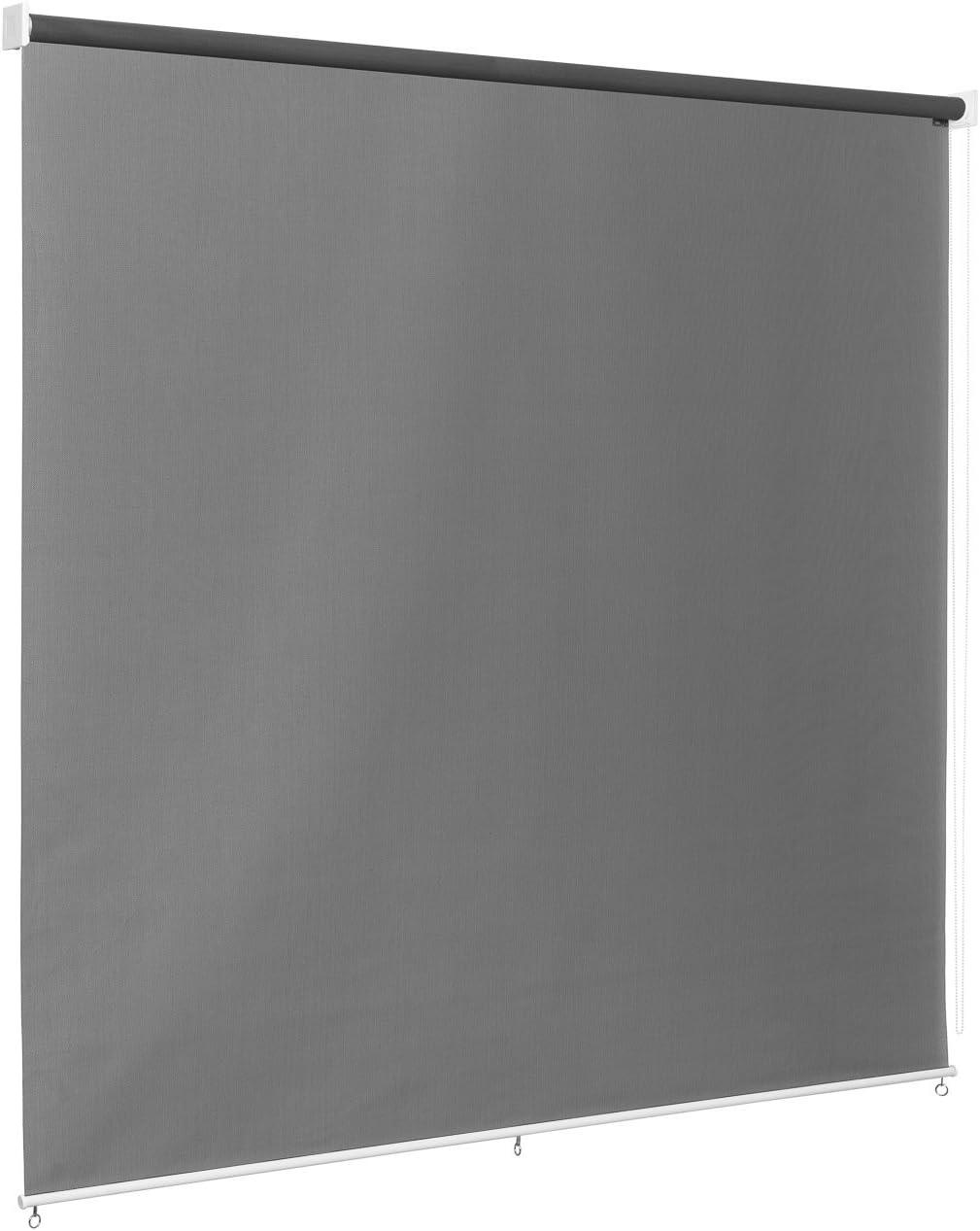Ventanara Außenrollo Screen Rollo Senkrechtmarkise Balkonrollo Sichtschutz  Rollo Beschattung 20 x 20 cm Anthrazit