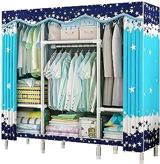 AQAWAS Armoire en Tissus avec étagère, Armoire de Rangement Dressing Penderie Tringle à Vêtements Rapide et Facile à Assem...