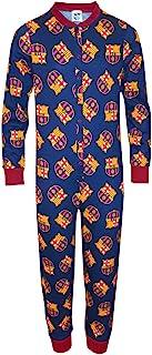 FC Barcelona Kinder Schlafanzug-Overall - Offizielles Merchandise - Geschenk für Fußballfans