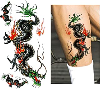 Grand Eagle Decal Tattoo Sticker Temporary Tiger Dragon Classic Totem Pattern for Cool Women Men Body Art,M143