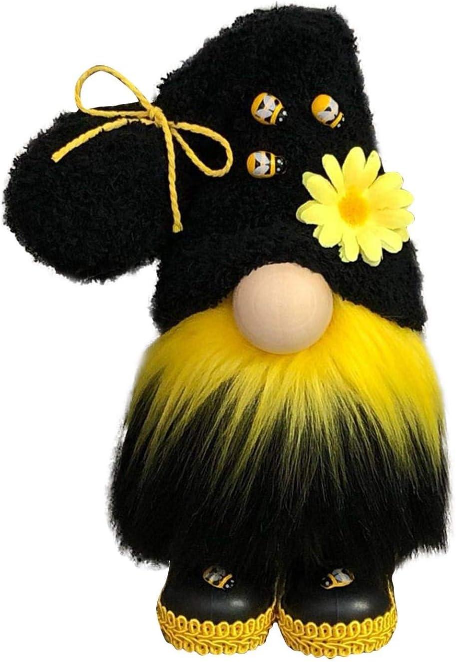 Bumble Selling Philadelphia Mall rankings Bee Striped Gnome Plush Warf Doll Sunflowerd Cute Spring