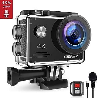 Campark X5 Cámara Deportiva 4K Wi-Fi 20MP (Cámara de Accion Acuatica de 40M con Micrófono Externo y Control Remoto Funciones Anti-Shaking y Time Lapse)