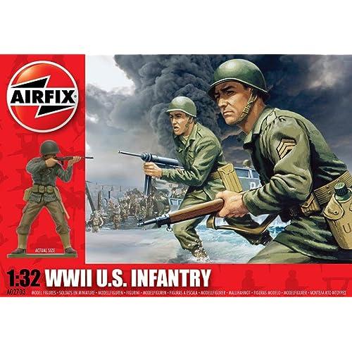 Hornby A02703 WWII U.S Set de Figuras Infantry Airfix