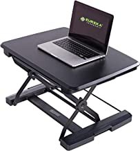 Eureka Ergonomic 26'' Adjustable Laptop Sit-Stand Desk Converter | Black