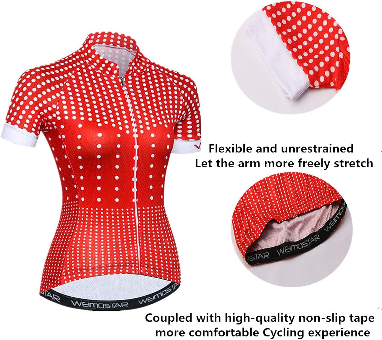 PSPORT Women's Cycling Jersey Short Sleeve Bike Shirts Reflective : Sports & Outdoors