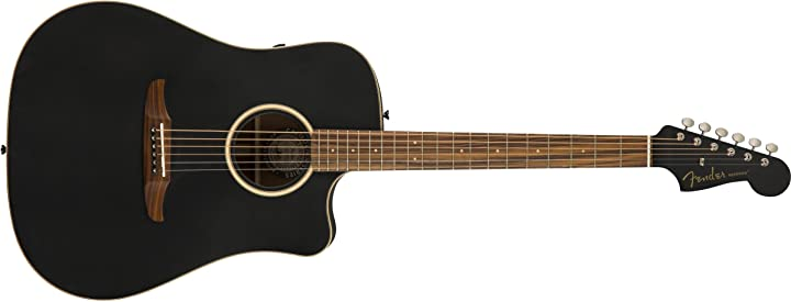 Chitarra acustica serie california, finitura nera opaca con custodia fender redondo special 0970813106