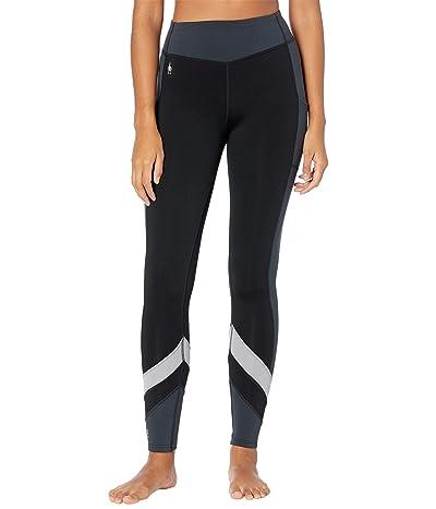 Smartwool Merino Sport Fleece Color-Block Tights (Black) Women
