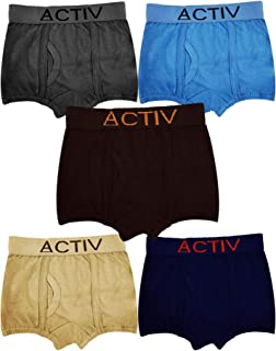 HAP Boys' Cotton Trunks (Pack of 5)