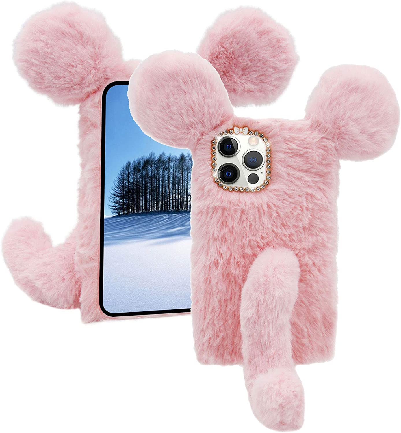 Soft Fluffy Furry Mouse Case for Beauty products Oneplus Scr Max 77% OFF Pro 9 MOIKY 5G with