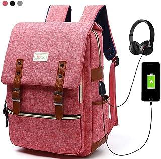Mochila para portátil de negocios con interfaz de carga USB, Bolsa para portátil de viaje de nylon ligera y duradera Mochila para mochila casual para hombres y mujeres, universidad y niños, 15.6 pulgadas multicolores (Gris) (Rojo)