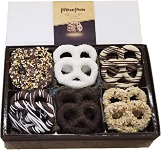 Pretzel Plate Gourmet Chocolates Perfect for Corporate Gift, Thanksgiving, Holiday, Fathers Day, Mothers Day, Valentines, Christmas or Birthday (Neutral, 12 pack)