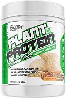 Nutrex Research Plant Protein | Great Tasting Vegan Plant Based Protein | No Artificial Flavors, Colors, or Sweeteners, Gl...