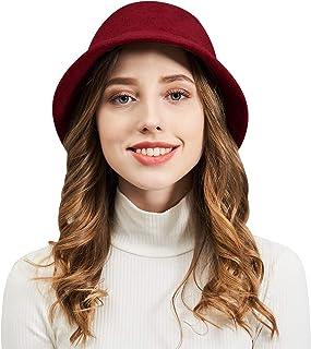 00ba93d0aa0 DianaWu Women Winter Wool Felt Bucket Hat with Multiple Solid Colors