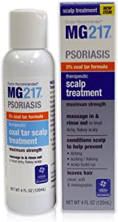 MG217 Psoriasis 3% Coal Tar Therapeutic Scalp Treatment, 4 Fluid Ounce