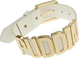 Udekit Regolabile Cintura Bianca Gold Puddin Choker Collana per Le Donne e Le Ragazze (Circa 1,2 Pollici di Larghezza)
