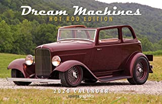 2020 Dream Machines Hot Rod Edition Deluxe Wall Calendar
