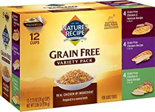 Nature's Recipe Grain Free Chicken Variety Pack Wet Dog Food, 2.75 oz (Pack of 24)