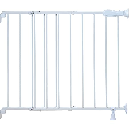 Storkcraft Easy Walk Thru Tall Metal Safety Gate White Black Gray 33 75 Inches Tall Easy To Install Pet Friendly Durable Metal Hardware Ideal For Taller Children And Larger Pets Baby