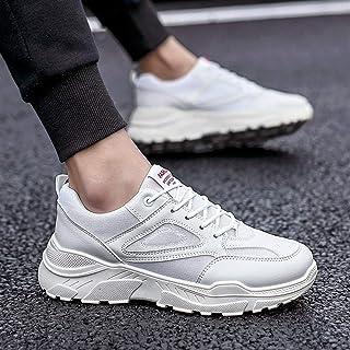 2019 Autumn New Men's Thick-Soled White Shoes Trend Fashion Wild Old Shoes Men's Shoes (Color : Beige, Size : 39)