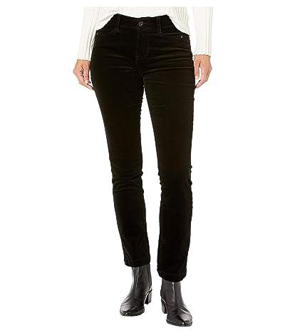 Jag Jeans Petite Petite Ruby Straight Corduroy Jeans (Black) Women