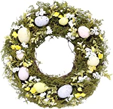 KESYOO Decorative Seasonal Wreath Door Wreath Easter Wreath Eggs Door Hanging Wreaths for Easter Spring Door Hanging Home ...