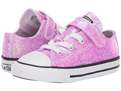 Converse Kids Chuck Taylor(r) All Star(r) 1V Ox (Infant/Toddler) (Lilac Mist/Black/White) Girls Shoes
