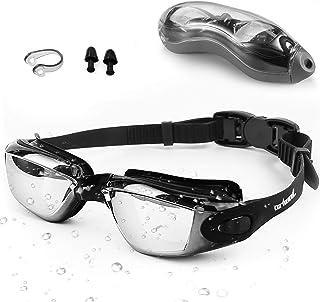 Zerhunt Simglasögon vuxna män barn – spegel simglasögon anti-dimma med UV-skydd läcker inte med näsklämma och öronproppar,...