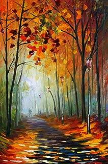 Large Modern Oil Painting On Canvas By Leonid Afremov Studio - Fog Alley 2