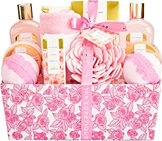 Bath Sets for Women, Spa Luxetique Spa Gifts for Women, Rose Spa Kit, Pamper Christmas Gift Basket for Women, 12 Pcs Home ...