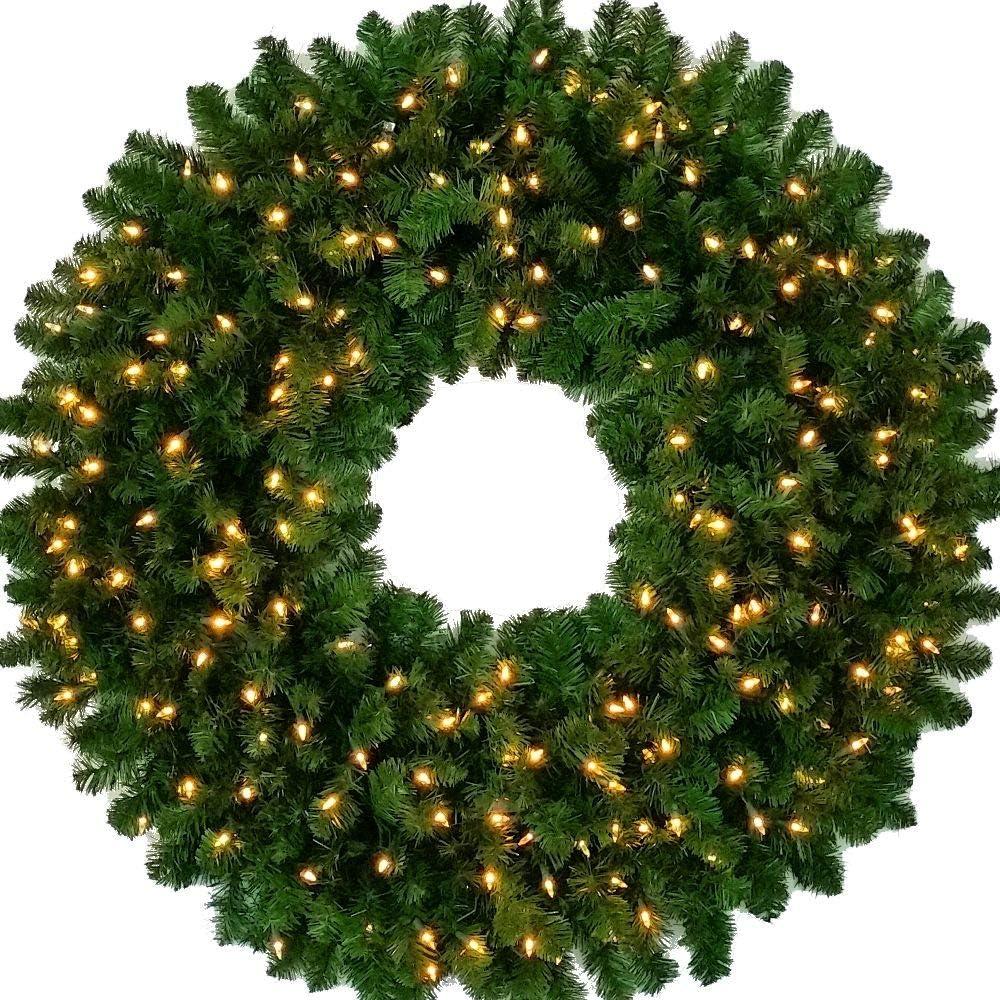 4 Foot Incandescent Christmas Max 56% OFF Wreath - inch Certifie UL 200 Popular brand 48