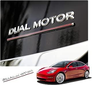 R RUIYA Metal Car Side Fender Rear Trunk Emblem Sticker High Performance Tail Sticker Dual Motor Modified Accessories Decoration for Tesla