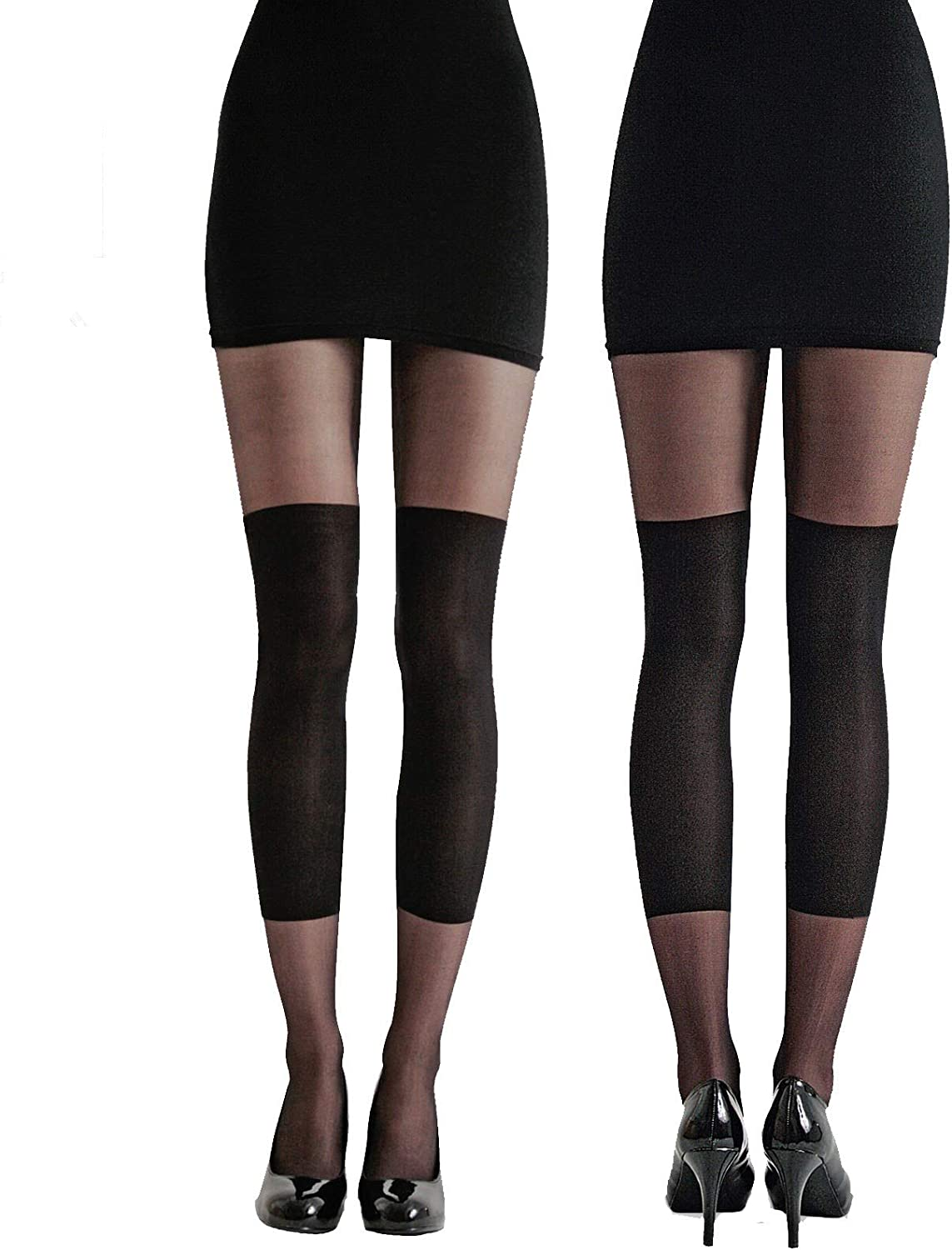 Hot Sox Dream Collection Opaque Sheer Block Tights