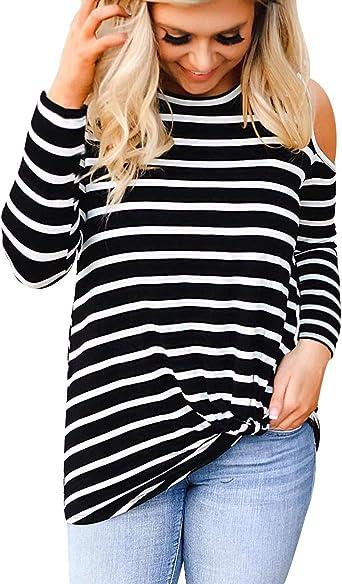 Camisetas Manga Larga Mujer Oversize Largas Camiseta Hombros ...