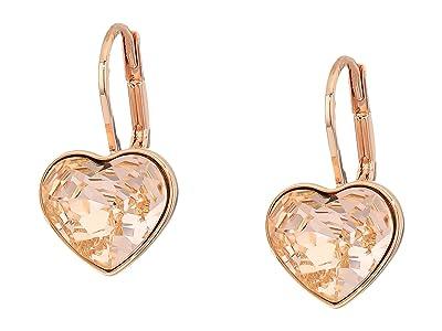 Swarovski Bella Heart Pierced Earrings (Silk/Pink) Earring