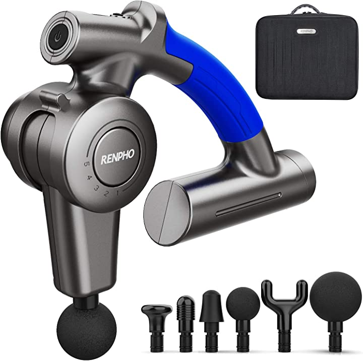 Pistola massaggio muscolare, renpho massage gun elettrico a percussione profonda con braccio regolabile RF-GM169