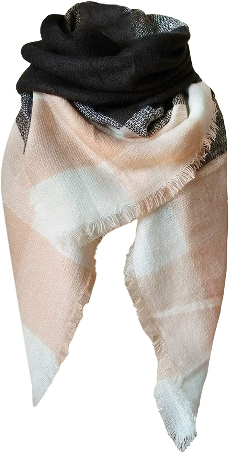 Max 72% OFF Plaid Blanket Winter Fall Scarfs for Women Chunky Louisville-Jefferson County Mall Oversized Warm